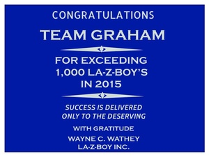 La-Z-Boy Award- Graham Furniture